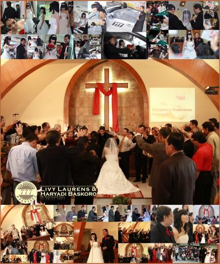 pemberkatan dan peneguhan pernikahan Haryadi Baskoro dan Livy Laurens serta pengutusan pelayanan mereka berdua (HL-Ministry) di GKJ Brayat Kinasih Yogya 12 April 2013